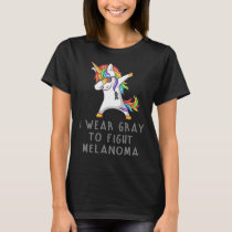 I Wear Blue To Fight Melanoma Awareness T-Shirt