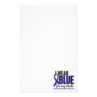 I Wear Blue Uncle Rheumatoid Arthritis RA Custom Stationery