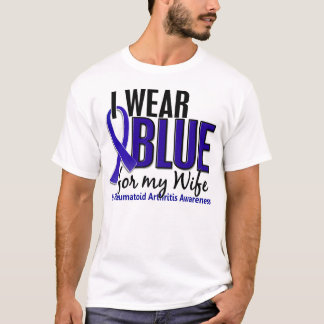 I Wear Blue Wife 10 Rheumatoid Arthritis RA T-Shirt