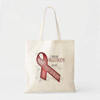 I Wear Burgundy for my Husband Canvas Bag