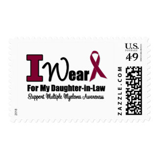 I Wear Burgundy Ribbon For Daughter-in-Law Postage Stamp