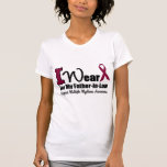 I Wear Burgundy Ribbon For Father-in-Law Tee Shirt