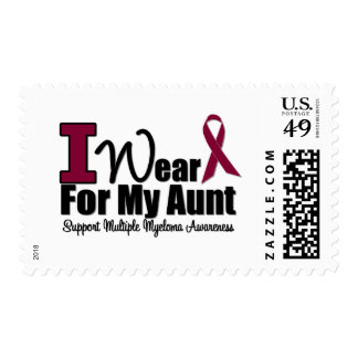 I Wear Burgundy Ribbon For My Aunt Stamps