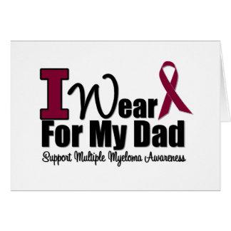 I Wear Burgundy Ribbon For My Dad Greeting Card