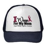 I Wear Burgundy Ribbon For My Mom Trucker Hat