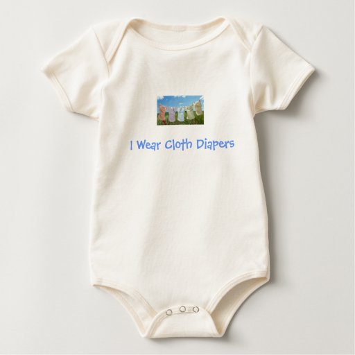 I Wear Cloth Diapers - Go Green! Rompers