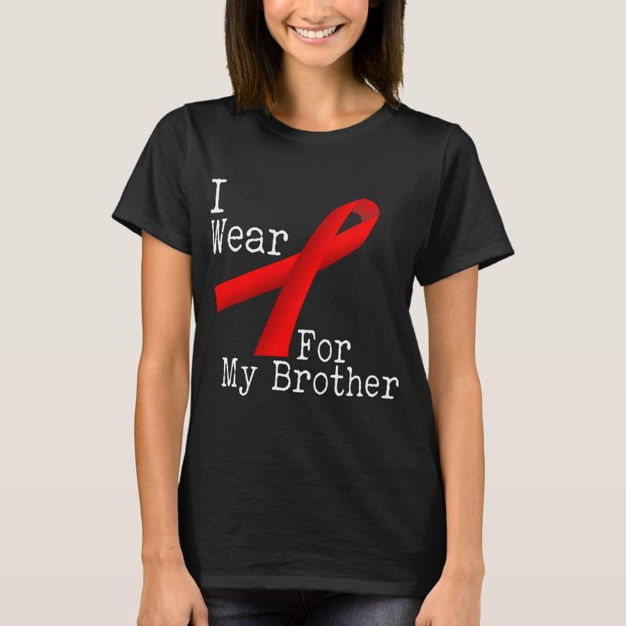 I Wear For My Brother Heart Disease Awareness Shir T-Shirt - Casual Long-Sleeve Street Fashion Shirts