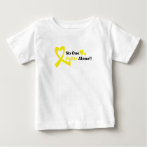 I Wear Gold Childhood Cancer Awareness support Baby T-Shirt