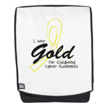 I Wear Gold Childhood Cancer Awareness support Backpack