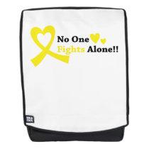 I Wear Gold Childhood Cancer Awareness support Backpack