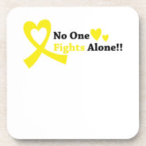 I Wear Gold Childhood Cancer Awareness support Beverage Coaster