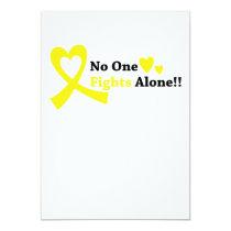 I Wear Gold Childhood Cancer Awareness support Card