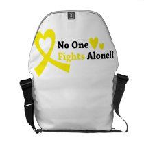 I Wear Gold Childhood Cancer Awareness support Courier Bag