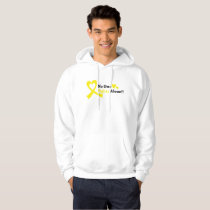 I Wear Gold Childhood Cancer Awareness support Hoodie
