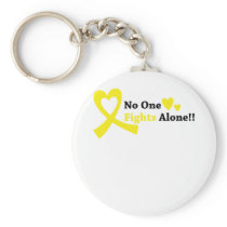 I Wear Gold Childhood Cancer Awareness support Keychain