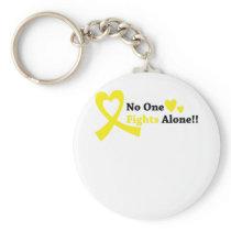 I Wear Gold Childhood Cancer Awareness support Keychain
