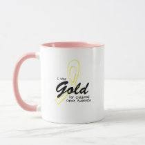 I Wear Gold Childhood Cancer Awareness support Mug