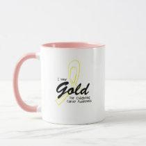 I Wear Gold Childhood Cancer Awareness support Mug