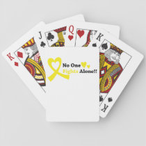 I Wear Gold Childhood Cancer Awareness support Playing Cards