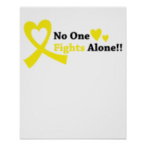 I Wear Gold Childhood Cancer Awareness support Poster