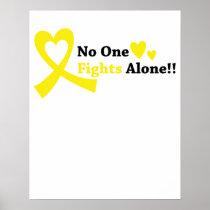 I Wear Gold Childhood Cancer Awareness support Poster