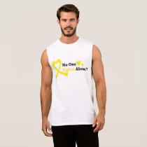 I Wear Gold Childhood Cancer Awareness support Sleeveless Shirt