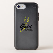 I Wear Gold Childhood Cancer Awareness support Speck iPhone Case