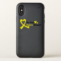 I Wear Gold Childhood Cancer Awareness support Speck iPhone X Case