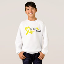 I Wear Gold Childhood Cancer Awareness support Sweatshirt