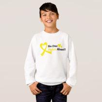I Wear Gold Childhood Cancer Awareness support Sweatshirt