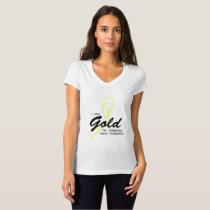 I Wear Gold Childhood Cancer Awareness support T-Shirt