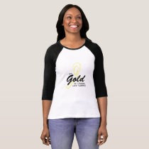 I Wear Gold Childhood Cancer Awareness support T-Shirt