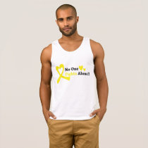 I Wear Gold Childhood Cancer Awareness support Tank Top