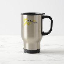 I Wear Gold Childhood Cancer Awareness support Travel Mug
