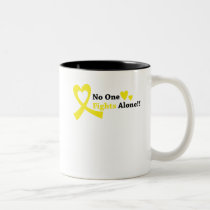 I Wear Gold Childhood Cancer Awareness support Two-Tone Coffee Mug