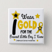 I Wear Gold For Bravest Boy 12 STAR VERSION Button