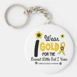 I Wear Gold For Bravest Girl 12 FLOWER VERSION Key Chains