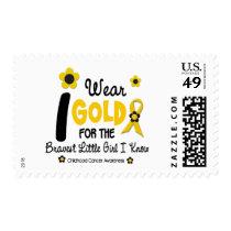 I Wear Gold For Bravest Girl 12 FLOWER VERSION Postage