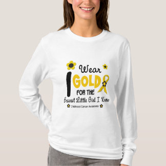 I Wear Gold For Bravest Girl 12 FLOWER VERSION T-Shirt
