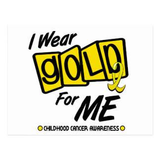 I Wear Gold For ME 8 Postcard