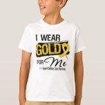 I Wear Gold For Me Childhood Cancer Ribbon T-Shirt