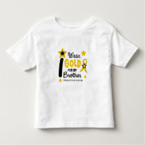 I Wear Gold For My Brother 12 STAR VERSION Toddler T-shirt