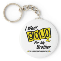 I Wear Gold For My BROTHER 8 Keychain