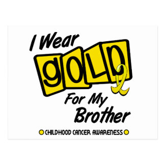 I Wear Gold For My BROTHER 8 Postcard