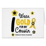 I Wear Gold For My Cousin 12 FLOWER VERSION Card