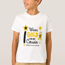 I Wear Gold For My Cousin 12 STAR VERSION T-Shirt