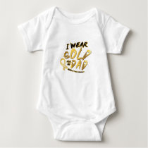 I Wear Gold For My Dad Childhood Cancer Awareness Baby Bodysuit