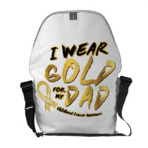 I Wear Gold For My Dad Childhood Cancer Awareness Courier Bag