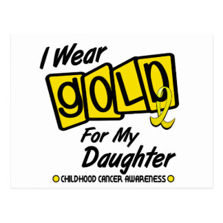 I Wear Gold For My DAUGHTER 8 Postcard