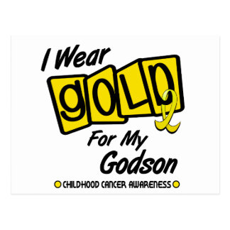 I Wear Gold For My GODSON 8 Postcard